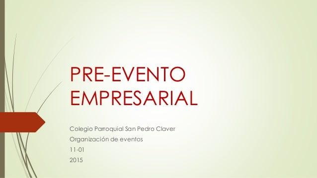 Pre Evento Empresarial
