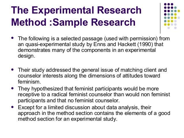 Pre- Experimental Research