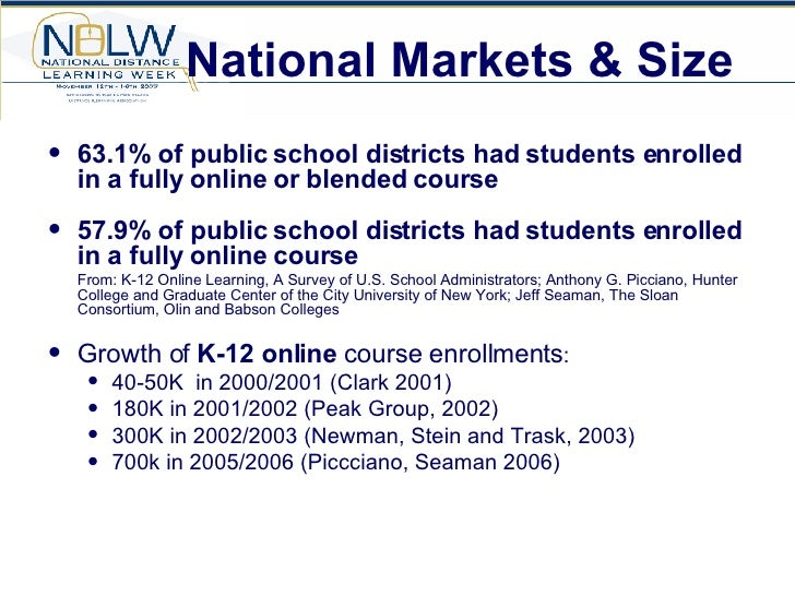 Pre K 12 Integration Of Virtual Education National Distance Learni