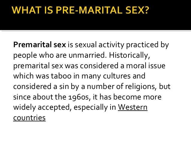 What is pre marital sex