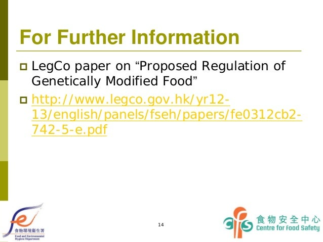 Precautionary measures for genetically modified foods essay