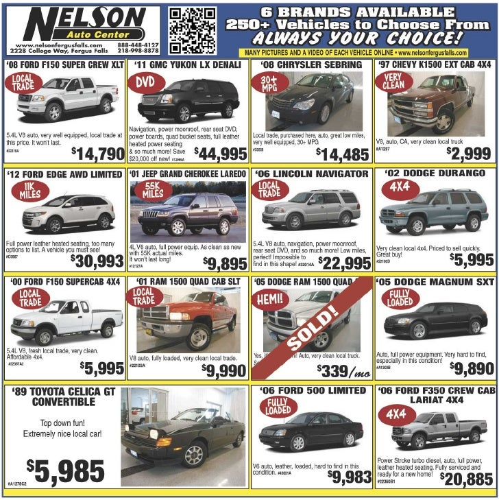 Nelson Auto Center offers an extended variety of used Cars | Fargo