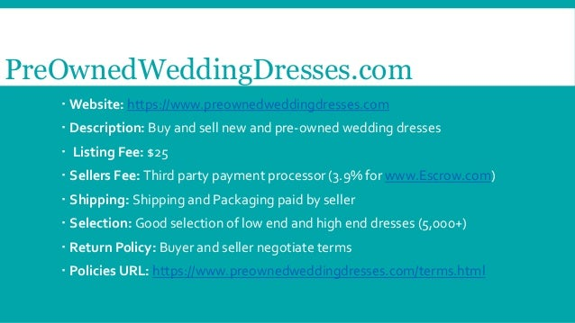 Five websites to buy and sell pre owned wedding dresses for Website to sell wedding dresses