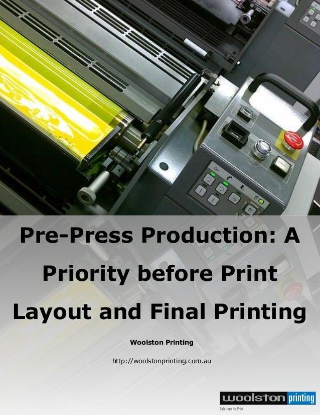 Pre productionfinalpaper