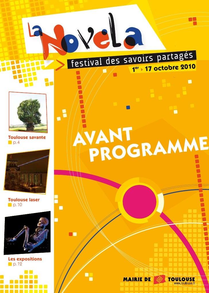 Novela 2010 : Avant-programme