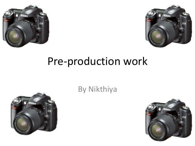 Pre-production work By Nikthiya