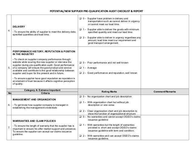 vendor qualification form template koni polycode co