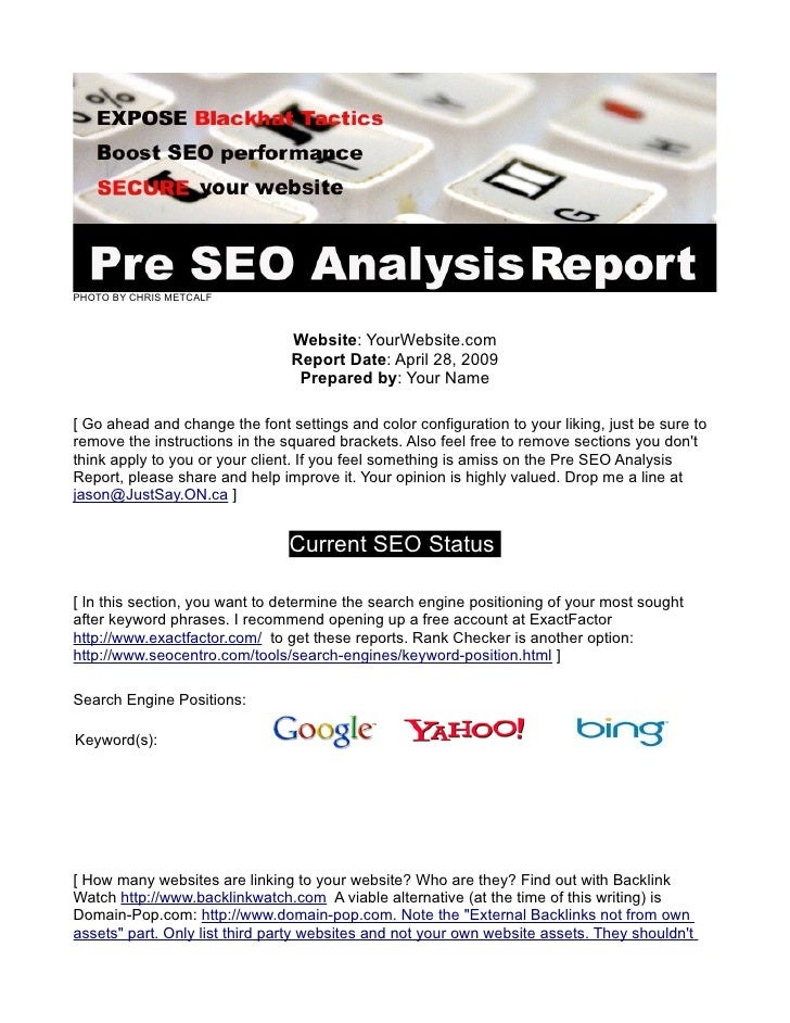 FREE Website Audit: The Pre SEO Analysis Checklist