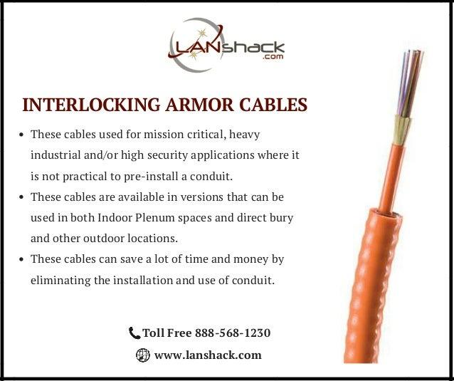 Pre-Terminated Interlock Armor Fiber Optic Cable Assemblies