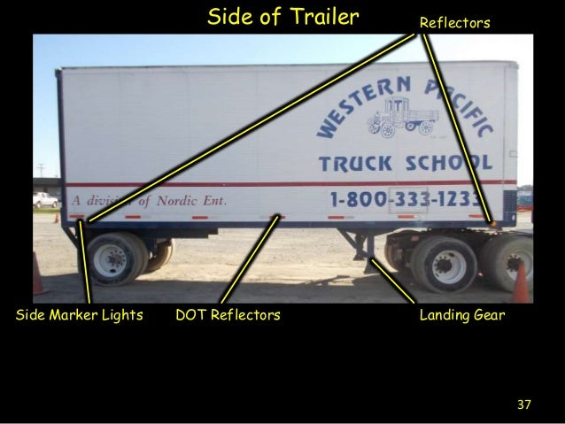 Semi Tractor Trailer Helping Inspect Lights : Pre trip inspection