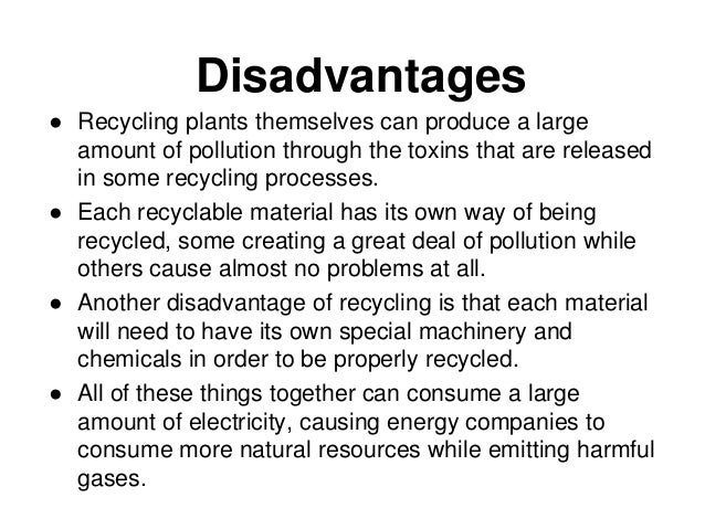 Advantages and Disadvantages of recycling metals