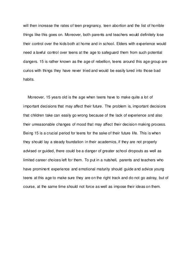 teenage rebellion thesis