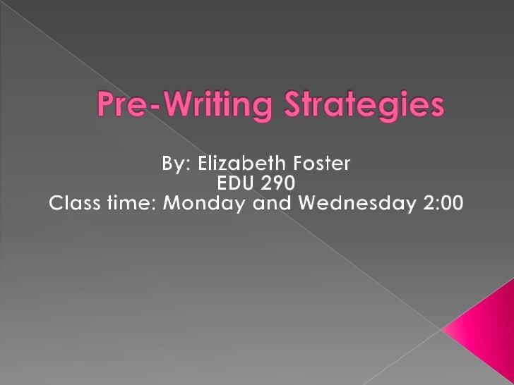 Prewriting strategies