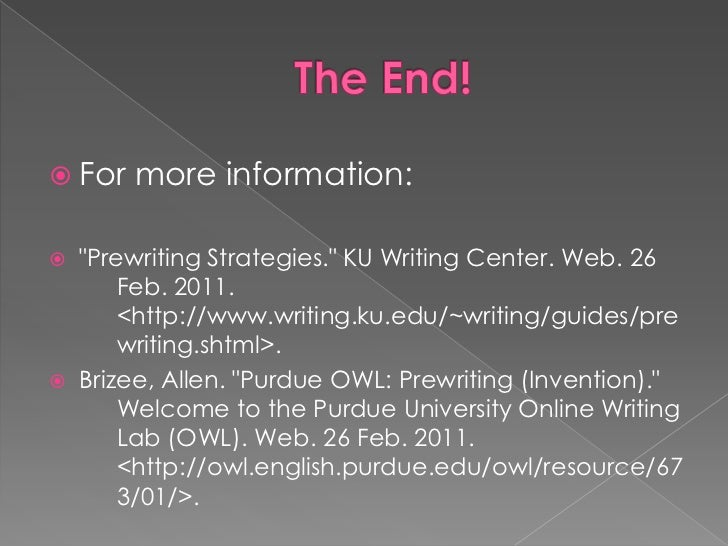 pre writing invention strategies Pre-writing strategies several options for getting paper writing ideas on paper reading & audience instructing students on how to approach a reading assignment for which they will write a paper will help the pre-writing process.