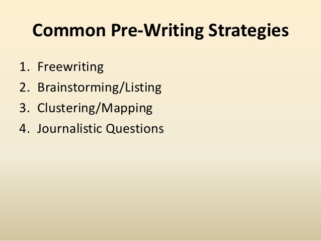 essay prewriting techniques This essay will require you to undertake a significant problem-solving task   heuristics are like rules of thumb—techniques for solving a writing problem that .
