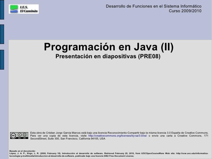Programaci n en java y ii for Como programar en java