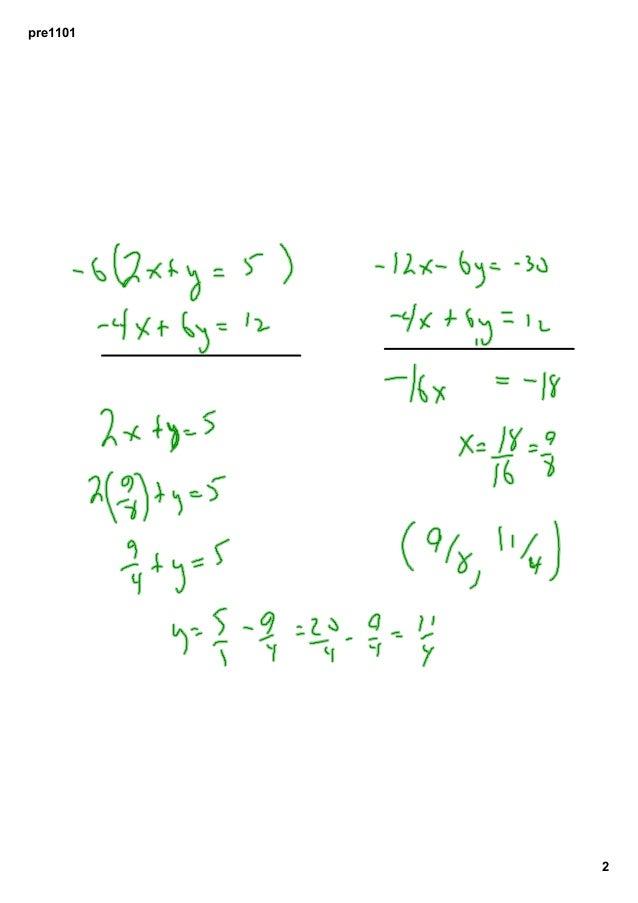 4H2012 11-01 2D System of Equations Slide 2