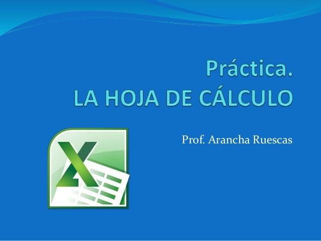 Prof. Arancha Ruescas