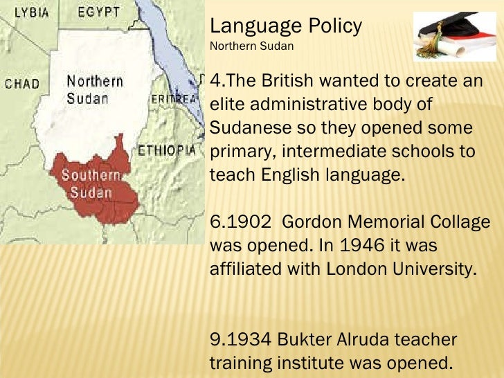 The Changing Status of English Language in Sudan