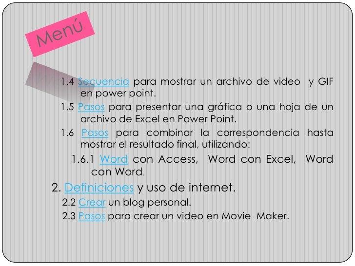 5. Conclusiones y recomendaciones.   6. Bibliografía.