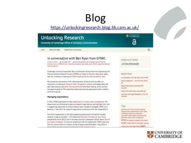 Blog https://unlockingresearch.blog.lib.cam.ac.uk/