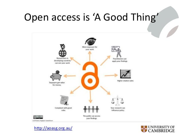 Open access is 'A Good Thing' http://aoasg.org.au/