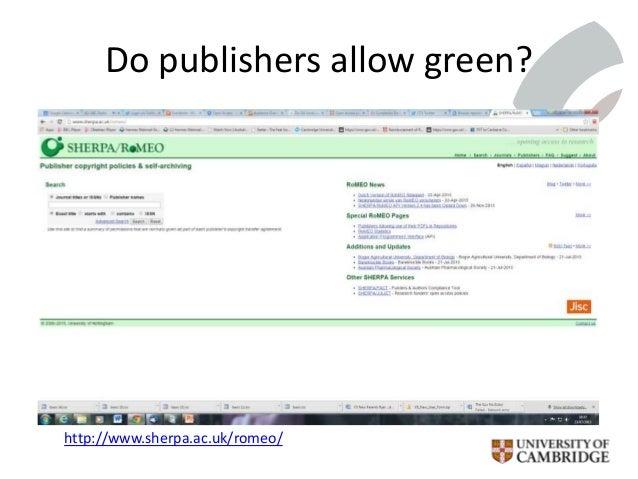 Do publishers allow green? http://www.sherpa.ac.uk/romeo/