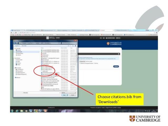 Choose citations.bib from 'Downloads'