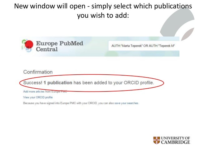 New window will open - simply select which publications you wish to add: