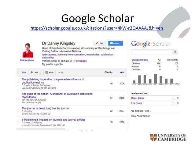 Google Scholar https://scholar.google.co.uk/citations?user=4kW-r2QAAAAJ&hl=en