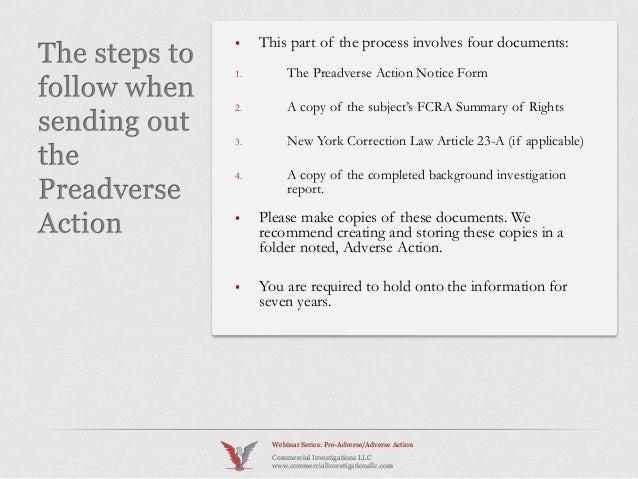 Preadverse Adverse Action CI Webinar Series February 2014