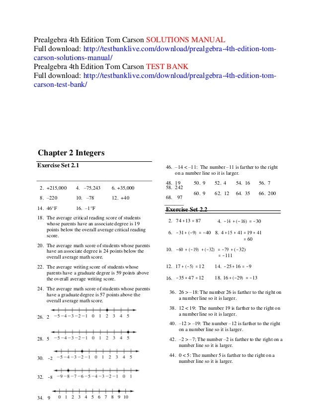 Prealgebra 4th edition tom carson solutions manual prealgebra 4th edition tom carson solutions manual 2 215000 4 75243 6 35000 58 fandeluxe Gallery