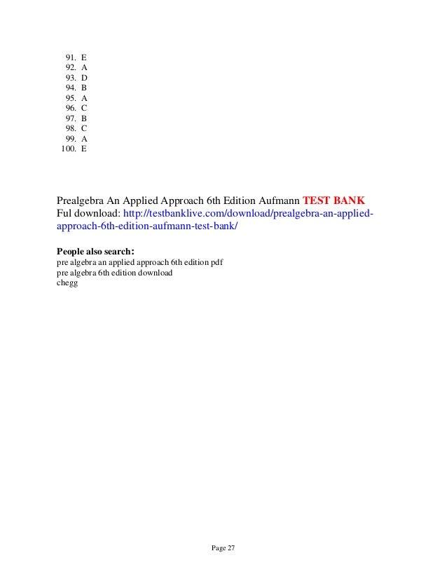 pre algebra test pdf - Dolap.magnetband.co