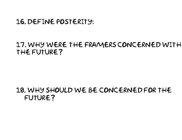 Define Posterity