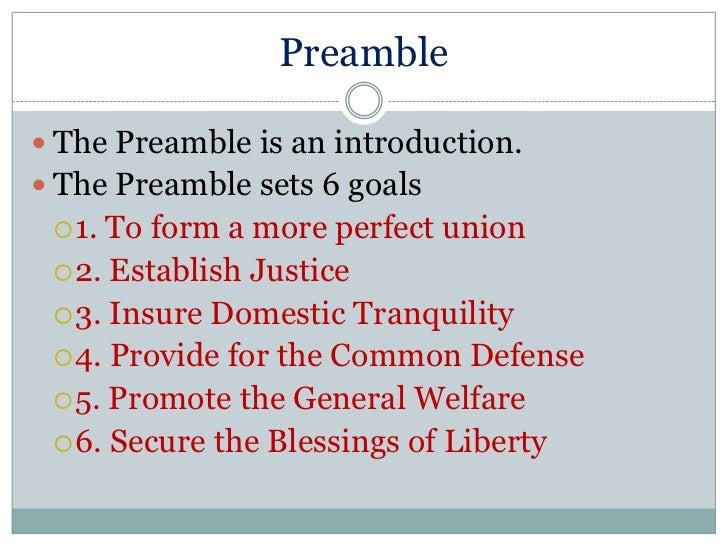 Preamble principles