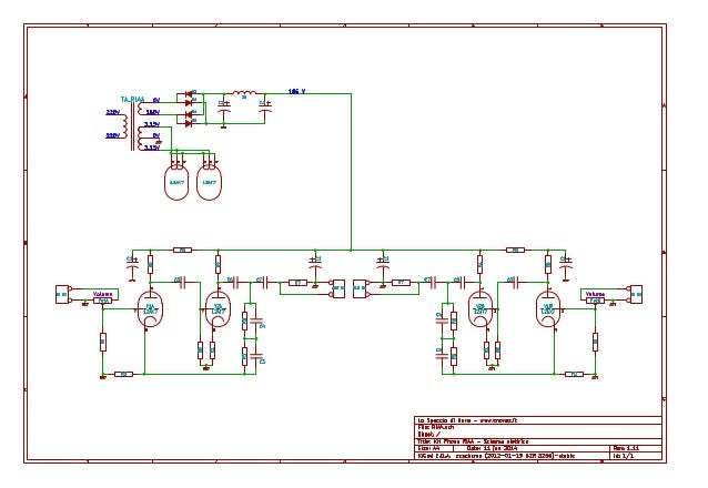 Schema Elettrico Hm : Preamplificatore phono riaa schema elettrico