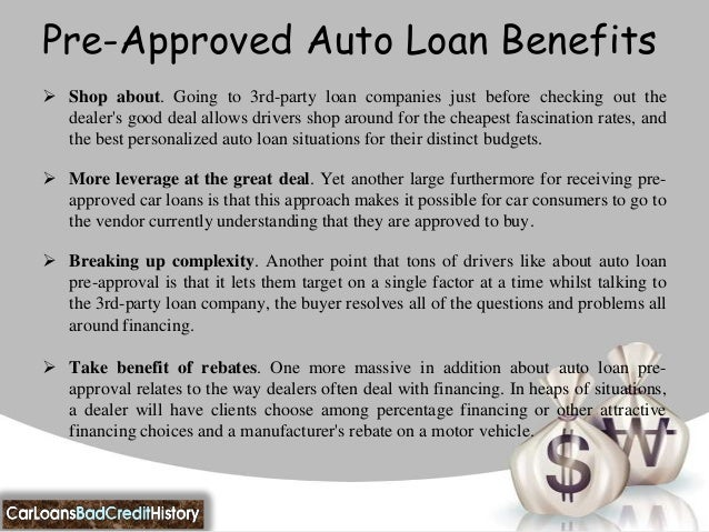 How can i get pre approved for a car loan