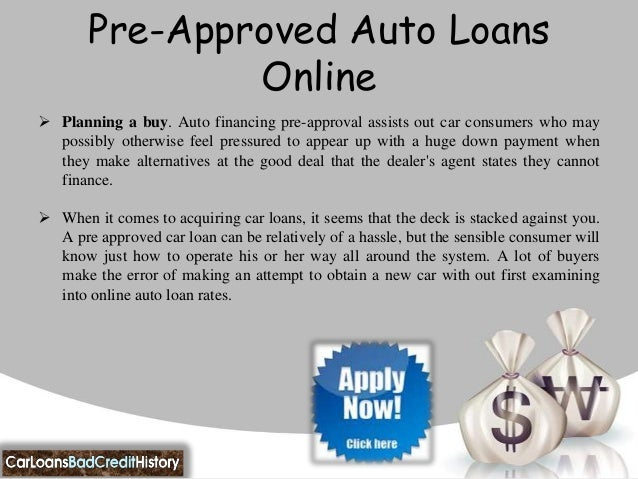 PreApprovedAutoLoans