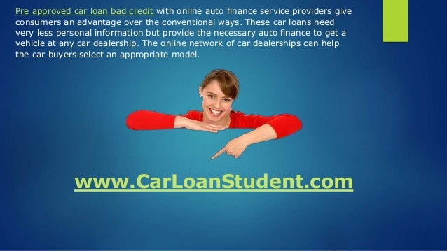 Bad Credit Car Dealerships >> Pre Approved Car Loan With Bad Credit - Get Pre Approved For A Car Lo…