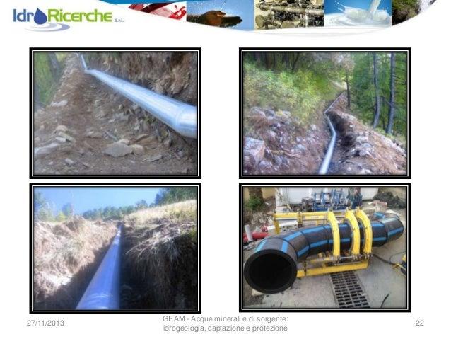 Captazione di sorgenti montane e reti di adduzione - Tubo gas interrato ...