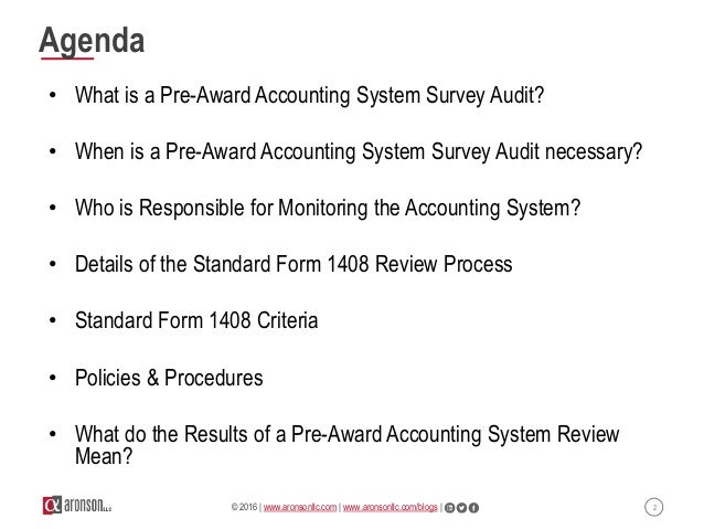 Mastering The Pre Award Accounting System Review