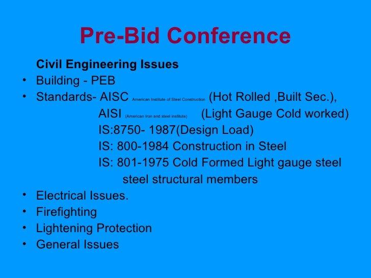 Pre Bid Conference