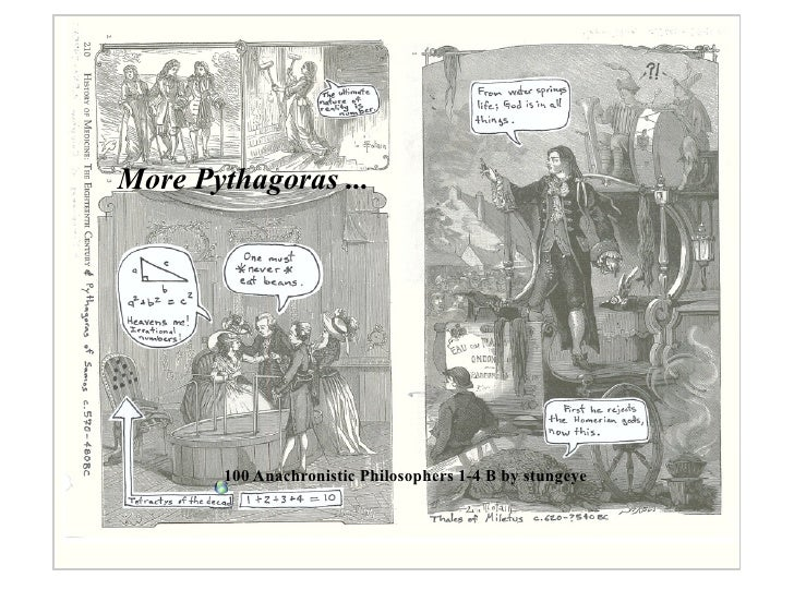 More Pythagoras ...             100 Anachronistic Philosophers 1-4 B by stungeye