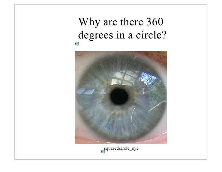 Why are there 360 degrees in a circle?          squaredcircle_eye