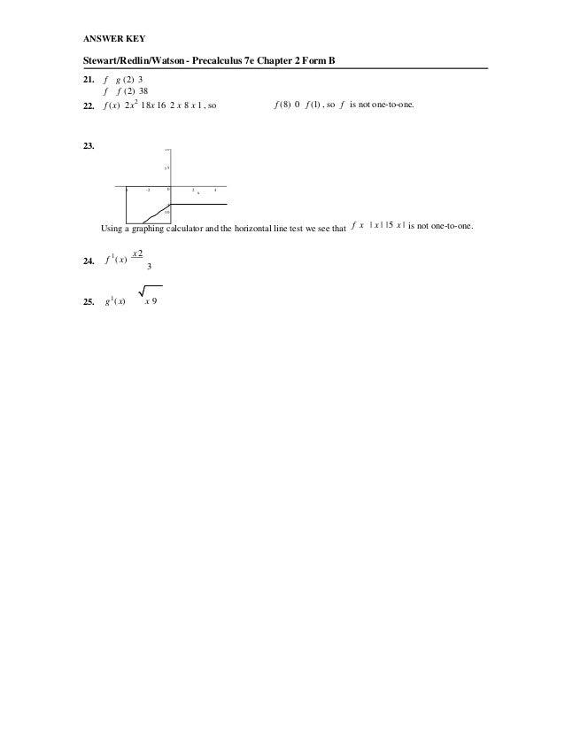 Precalculus Mathematics For Calculus 7th Edition Stewart Test Bank