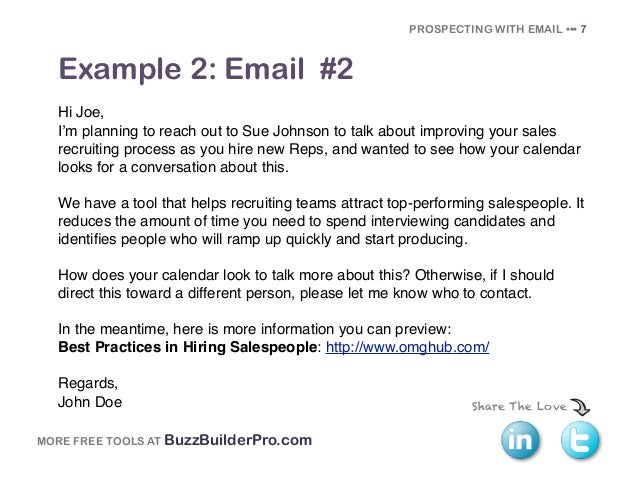 Cold Emailing Templates For Prospecting