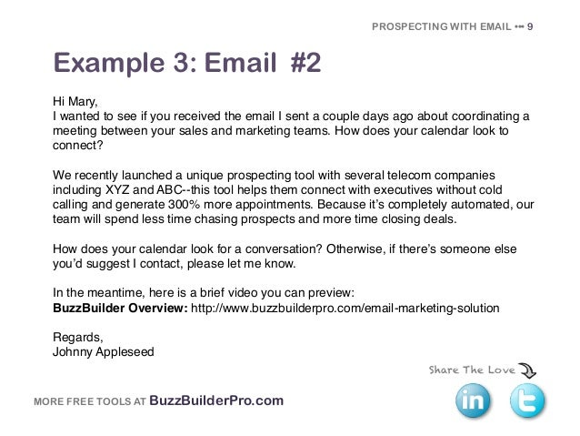 Cold Emailing Templates For Prospecting - Prospecting email template