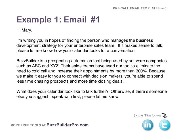 Sales Email Template Template Sales Email Templates To