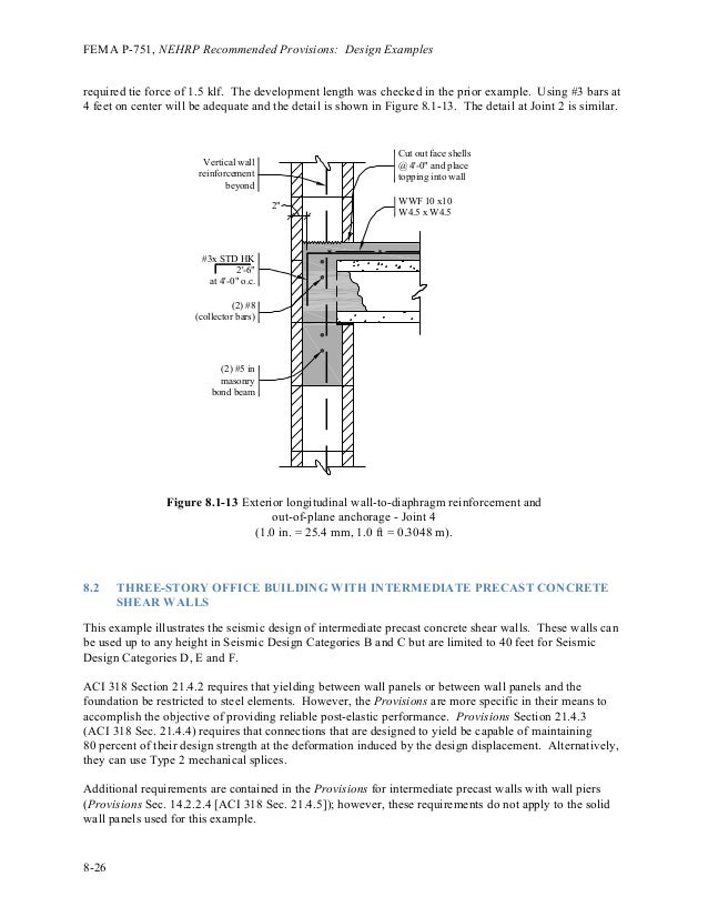 Reinforced Concrete Wall Design Example Interesting Connections