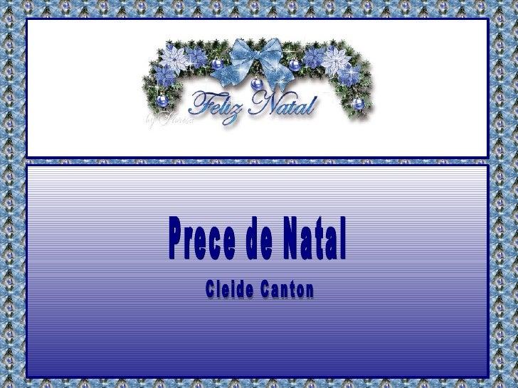 Prece de Natal Cleide Canton